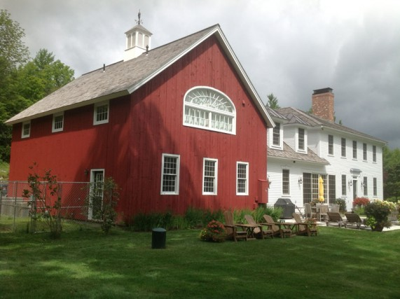 Dorset, VT house and barn painted by Eddie Charbonneau Painting