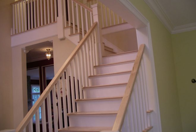 Fully painted and finished interior staircase