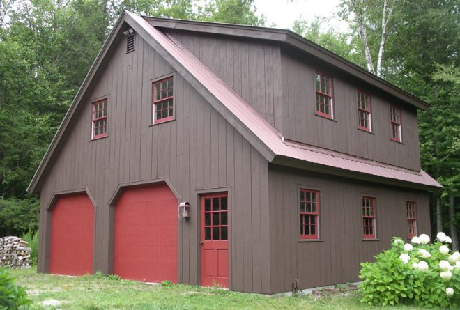 Newly painted barn / garage
