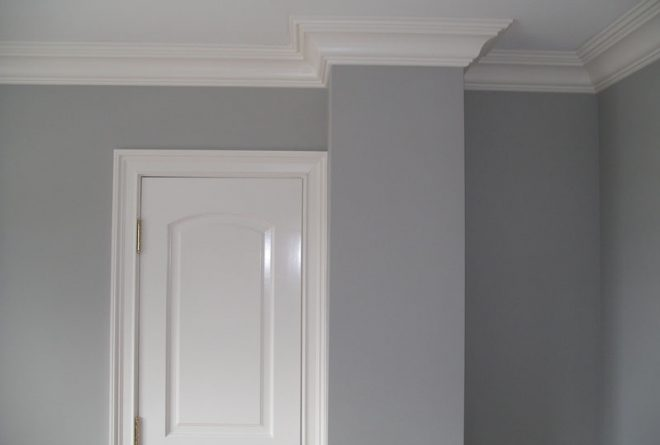 Interior Painting - walls and moulding