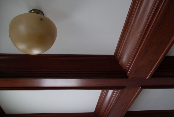 Natural finish on interior moulding
