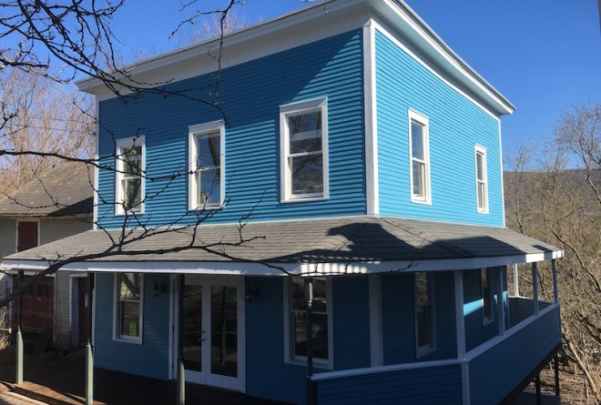 Manchester house painted by Eddie Charbonneau Painting